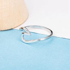 Silver Silver Ocean Wave Ring
