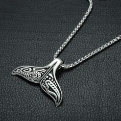 tribal whale tail necklace