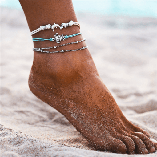 Dolphin Turtle anklet