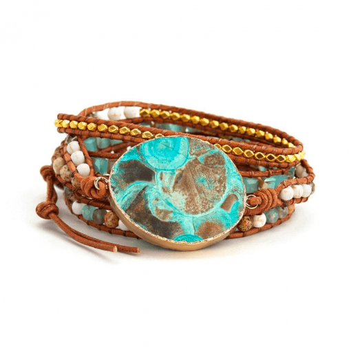 Gold Ocean Jasper Bracelet