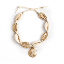 Cowrie Shell Gold Anklet