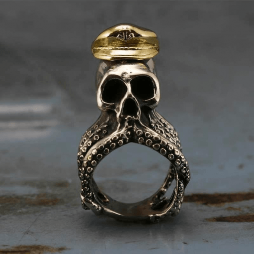 Mens Octopus Ring