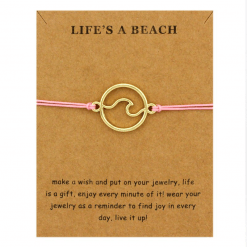 Pink Ocean Wave Bracelet
