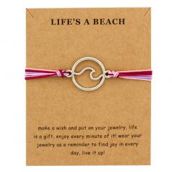 Ocean wave bracelet