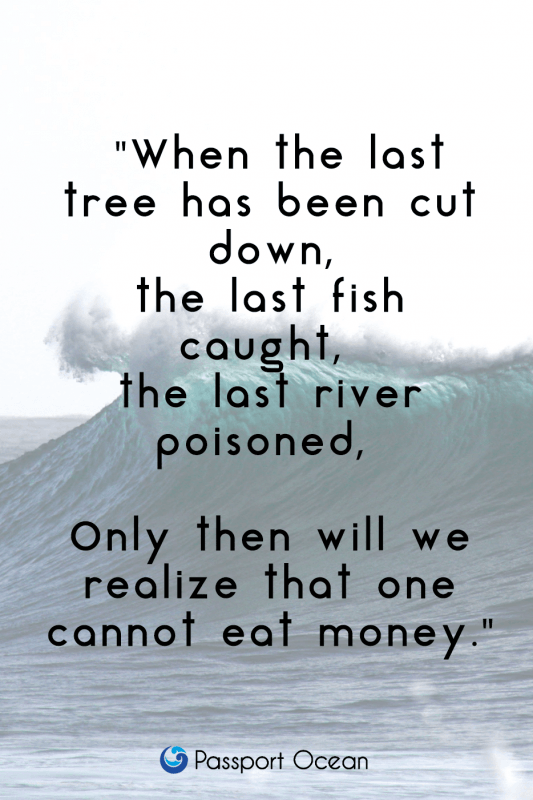 Save Oceans quote
