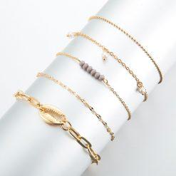 Set of Seashell bracelets