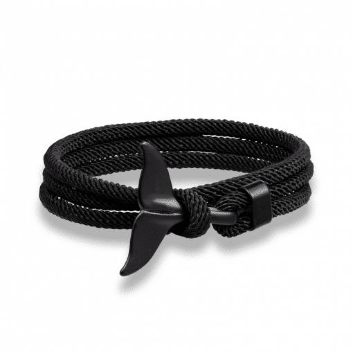 Black Whale Fluke Bracelet