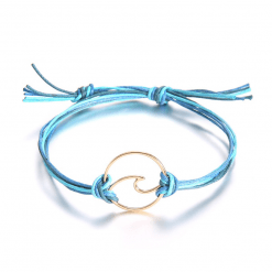 Blue surfing bracelet