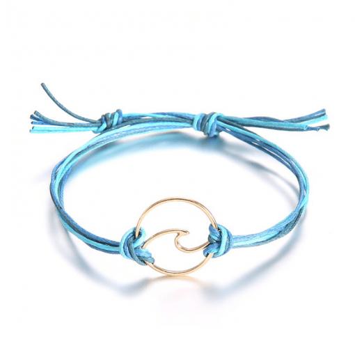 Blue surfing bracelet