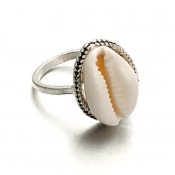 Bohemian Cowrie Ring