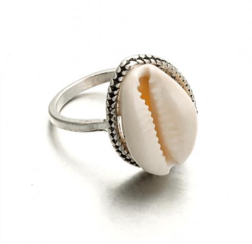 Bohemian Cowrie Ring