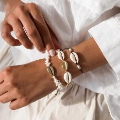 Cowrie Shell Bracelets Set