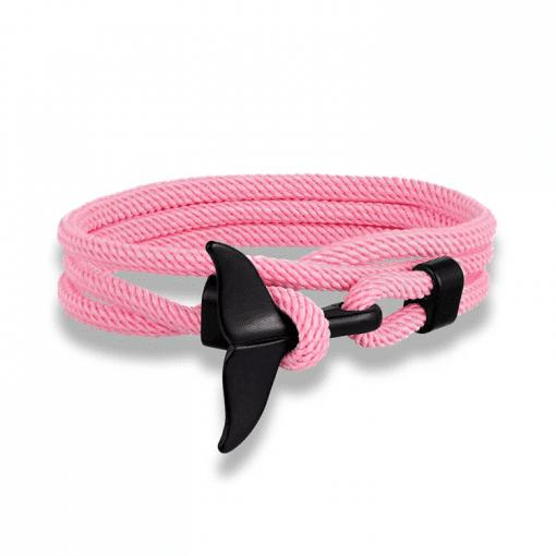 Pink Whale Fluke Bracelet