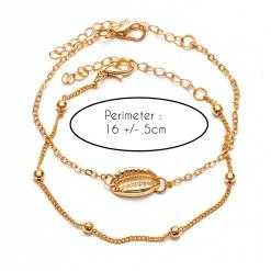 Gold Seashell Bracelet