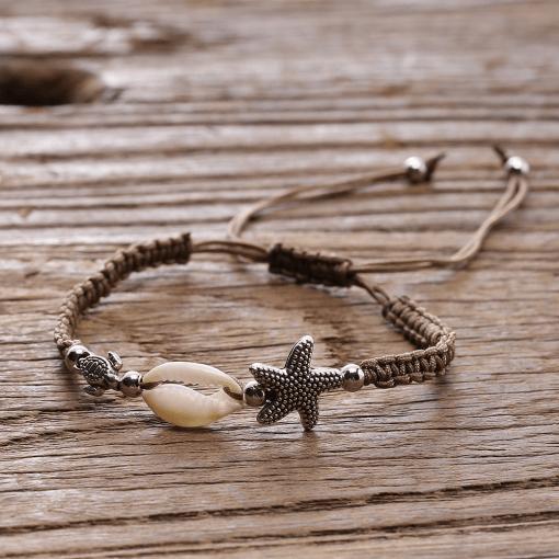 Brown Seashell Bracelet