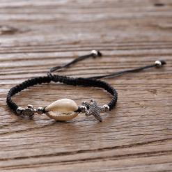 Black Seashell Bracelet