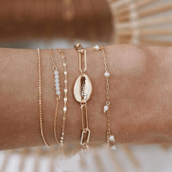 Set of Seashell Bracelet