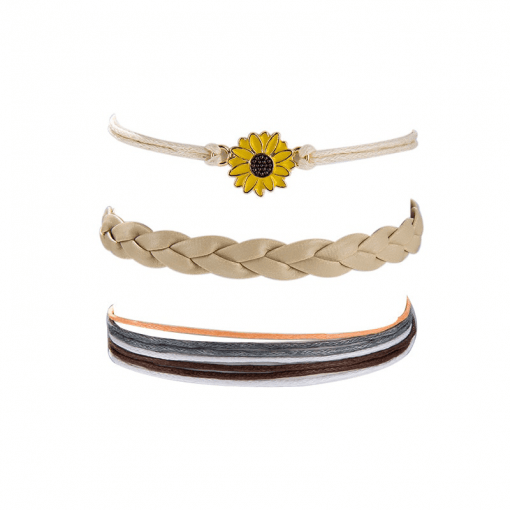 Triple Sunflower Anklet