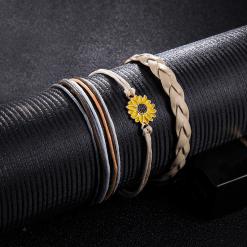 Boho Sunflower Anklet