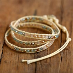 """Santorini"" Boho Leather Bracelet"