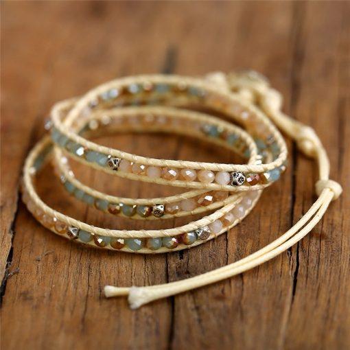 """Santorini"" Boho Leather Bracelet"