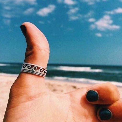 Antique Wave Ring