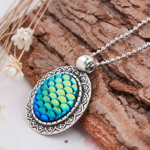 Silver Mermaid Scale Necklace