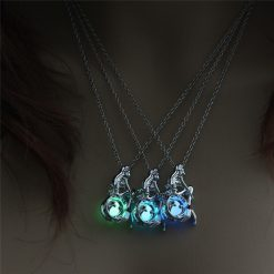 Glow in the Dark Mermaid Necklace