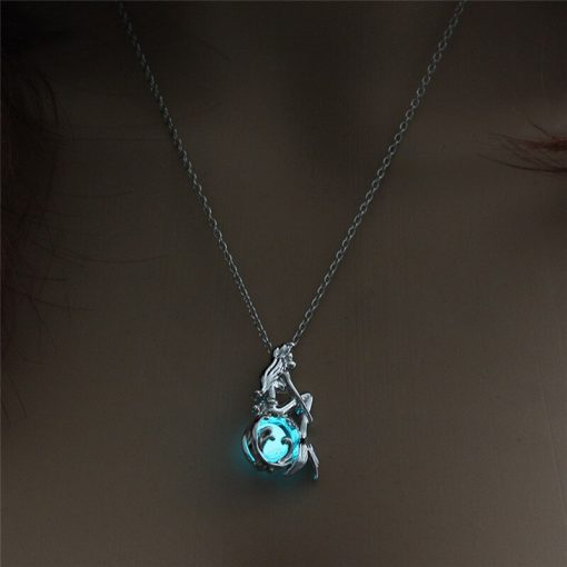 Glow in the Dark Mermaid Necklace