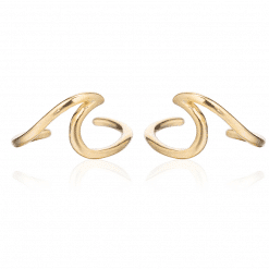 Gold Wave Ear Cuff