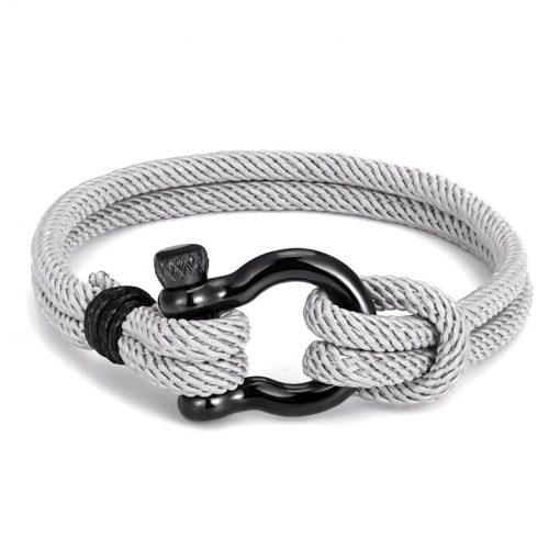 Grey Shackle Bracelet