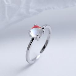 Silver Ocean Pearl Ring