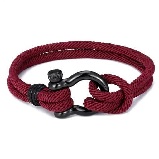 Red Shackle Bracelet