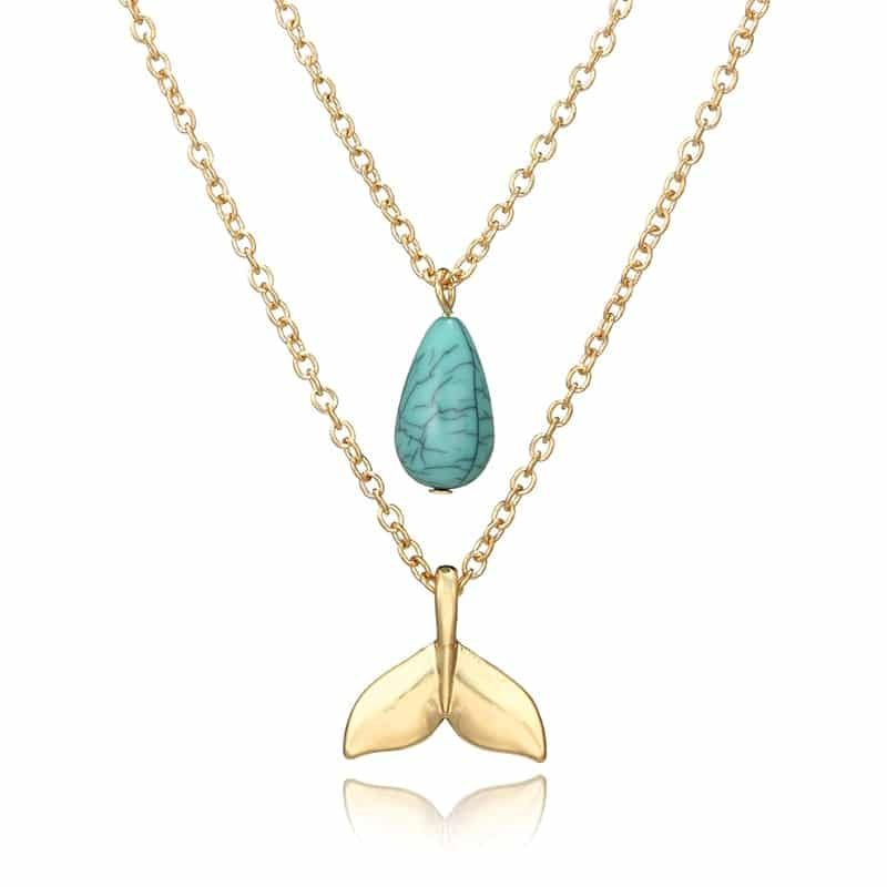 Beachy whale tail necklace