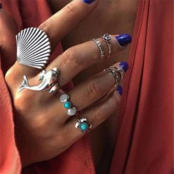 """Atlantis"" Boho Ring Set"