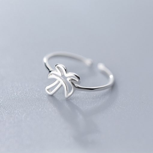 Silver Palm Tree Ring