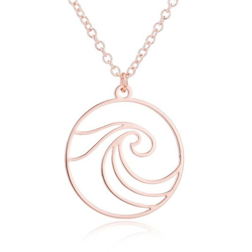 Rose gold surfing necklace