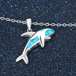 Opal Orca Necklace