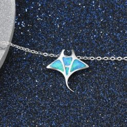 Turquoise ray necklace