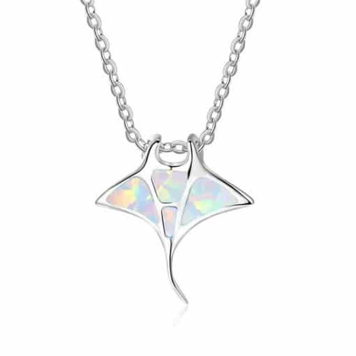 White ray necklace