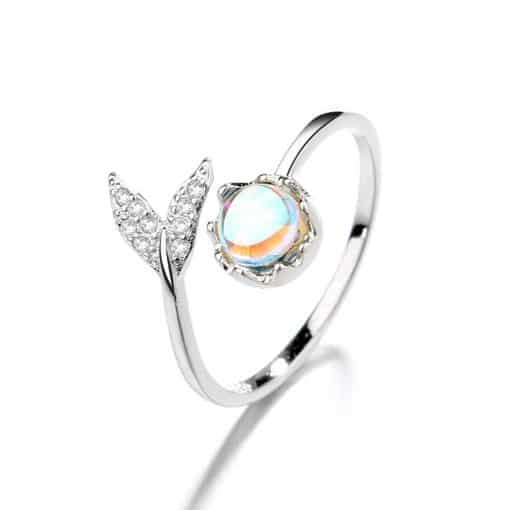Moonstone Whale Tail Ring
